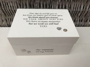 Personalised In Memory Of Box Loved One ~ MUM ~ MAM ~ any Name Bereavement Loss - 332624757020